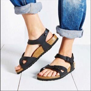 NWT Birkenstock Rio black sandals sz 11